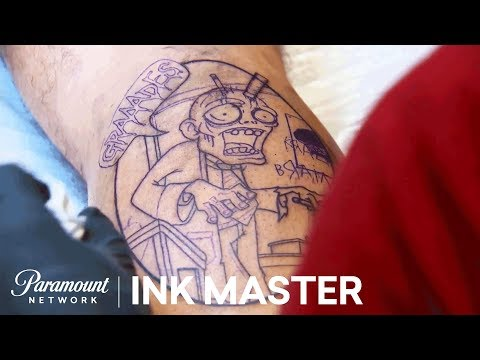Undead Ink: Testing Textures - Elimination Tattoo   Ink Master: Return of the Masters