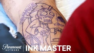Undead Ink: Testing Textures - Elimination Tattoo | Ink Master: Return of the Masters