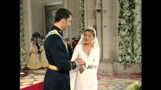 Royal Wedding, Madrid 2004. Prince Felipe and Princess Letizia of Spain. May 22, La Almudena.