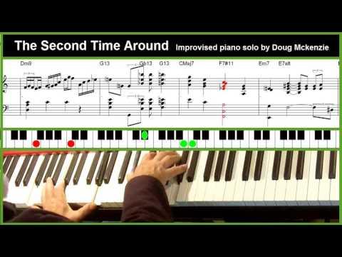 'The Second Time Around' - jazz piano tutorial