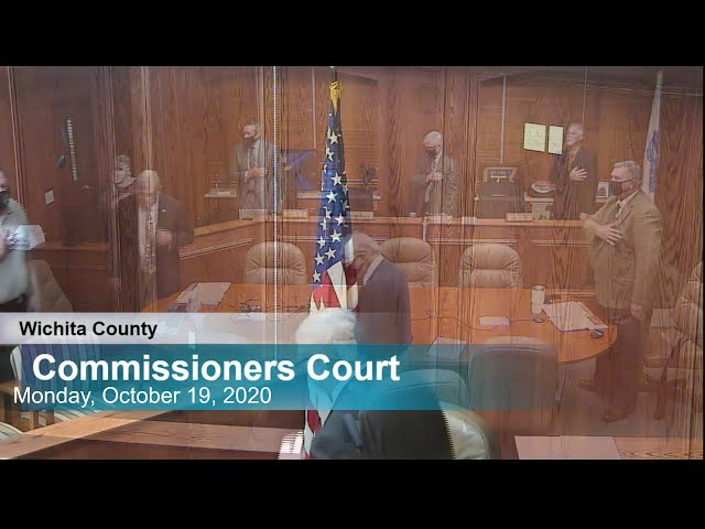 Commissioners Court 10/19/2020