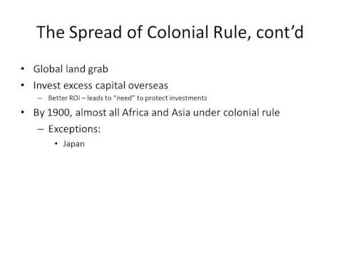 Introduction To European Imperialism