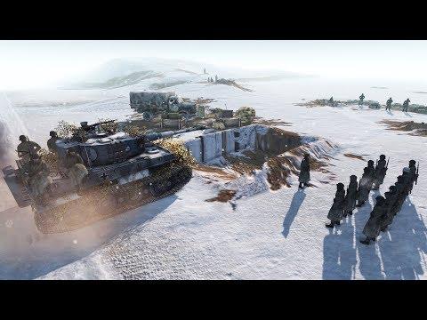German  Convoy Retreat Defense - Tiger Tank Arrives 1945 | Men of War: Assault Squad 2 Gameplay
