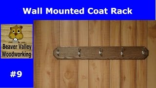 Wall mounted coat rack 9