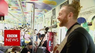 On board the train to Korea's music festival for peace - BBC News