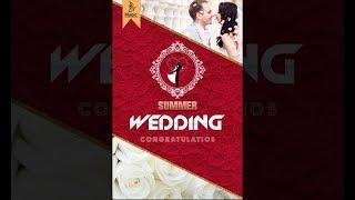How to design wedding invitation card design in photoshop