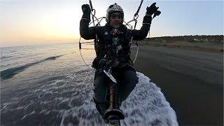 ⑧鳥目線!360度カメラを…パラグライダーカメラマンに渡してみた![波うち際の超低空飛行] thumbnail