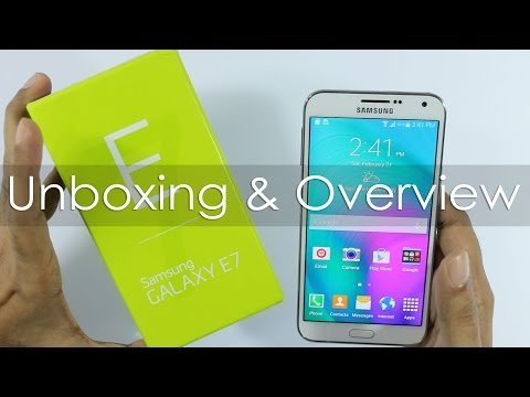 Samsung Galaxy E7 Unboxing & First Looks
