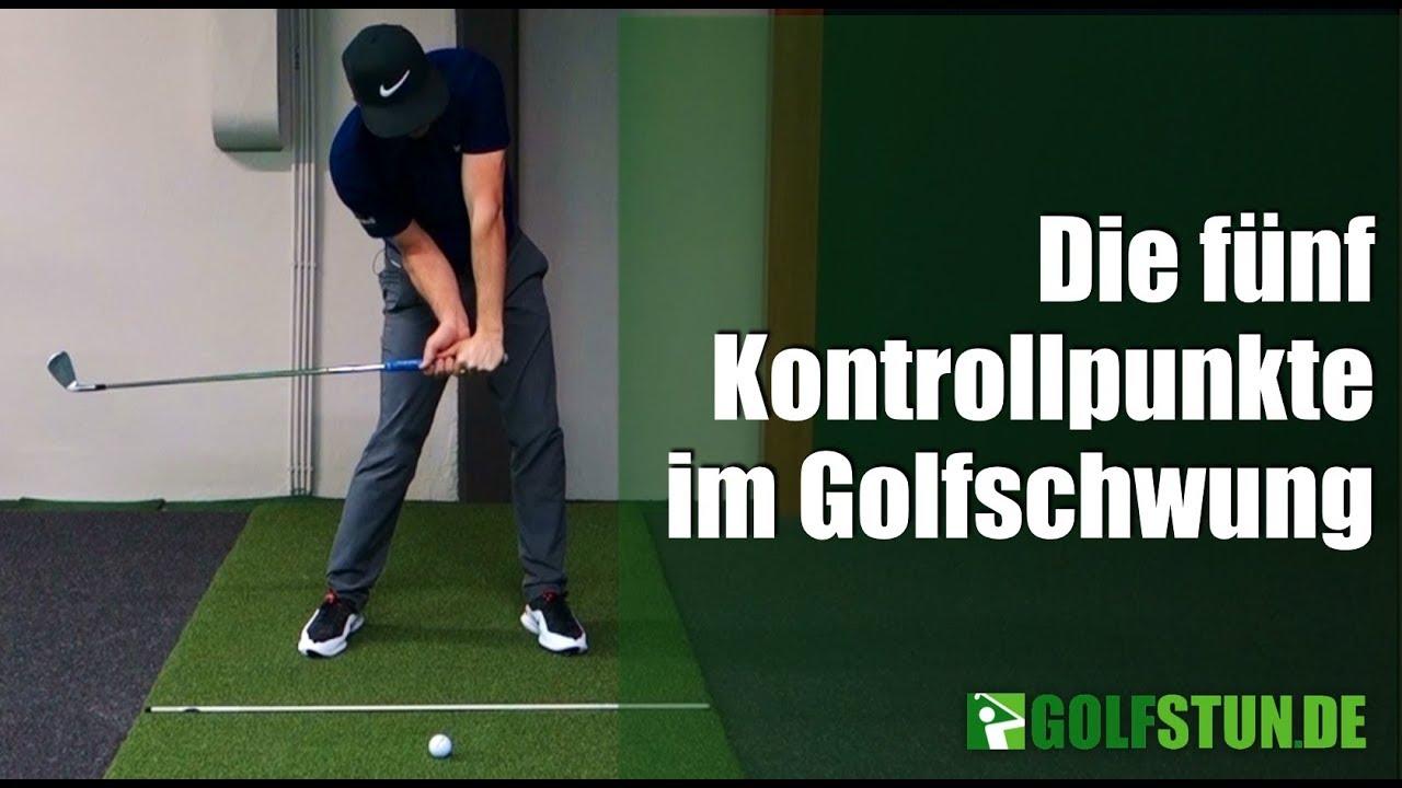 Die 5 Kontrollpunkte im Golfschwung - YouTube