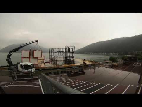 Video Bühnenaufbau Allestimento palco