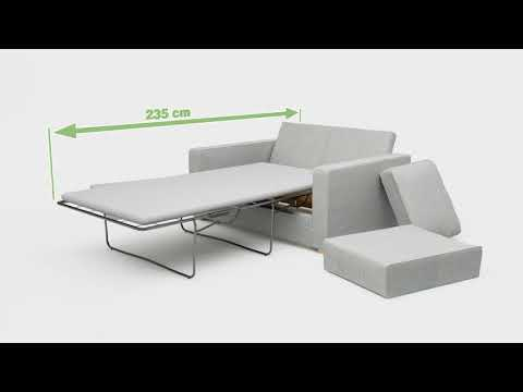 Ato 2 Seat Single Sofa Bed