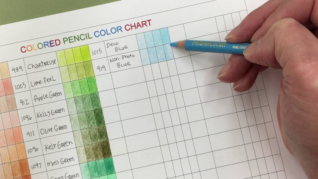 Colored pencil color chart and coloring tips karla dornacher youtube
