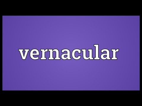 Vernacular Meaning