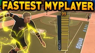 NBA 2K17 FASTEST PLAYER EVER ! 99 SPEED   FASTEST MyPlayer  ! IN MyPark