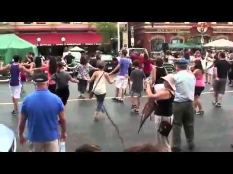 Amazing People Dancing In The Street - Zorba The Greek