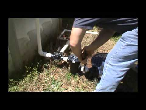 pool sand filter and pump install -
