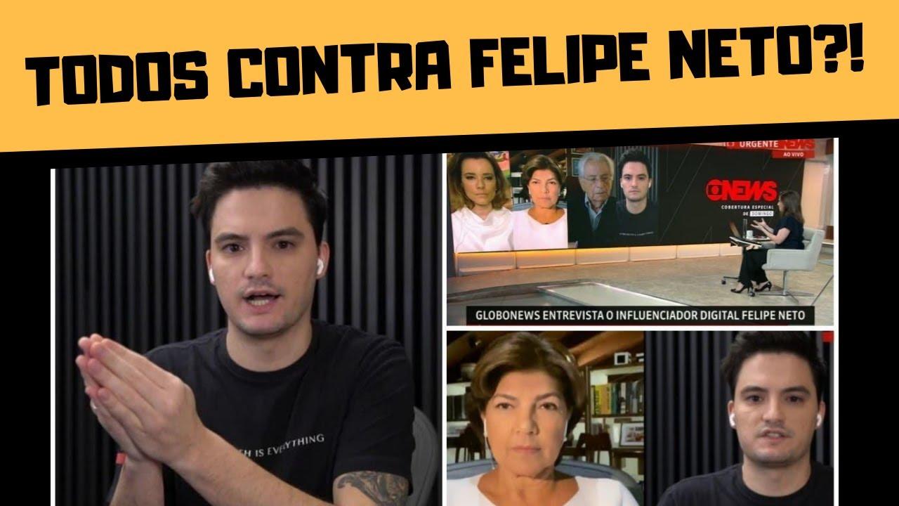 FELIPE NETO NA GLOBONEWS E FANTÁSTICO EXPÕE BOLSONARISTAS DERRUBADOS NO FACEBOOK