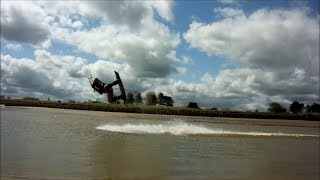 Kitesurfing at Cleethorpes 2nd May 2014