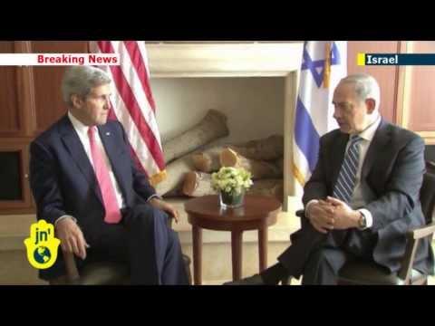 John Kerry meets Israeli PM Benjamin Netanyahu to resume Israeli-Palestinian peace talks