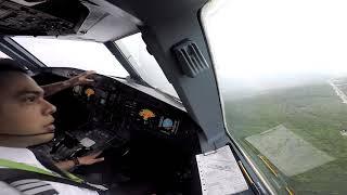 Evadiendo tormenta despegando de Cancun - Explicaciones