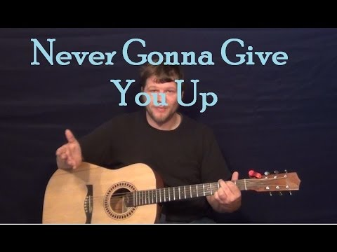 Never Gonna Give You Up (Rick Astley) Easy Guitar Lesson How To Play Tutorial