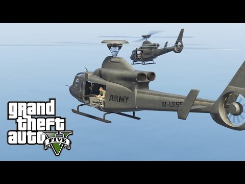 GTA 5 - Military ARMY Patrol #4 - ALL IN (M1 Abrams, Airstrikes, Beach Landing)
