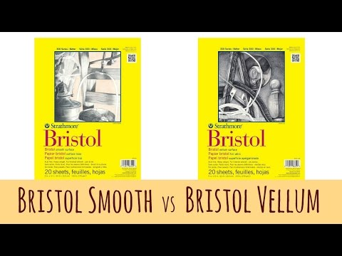 The Difference Between Bristol Smooth and Bristol Vellum by Strathmore