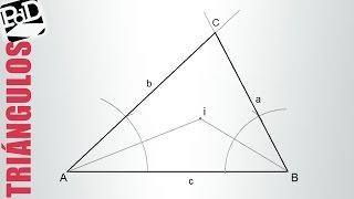 Dibujar un triángulo conociendo su incentro y uno de sus lados.
