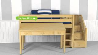 Back To School Ready With Kids Study Loft Beds With Desks