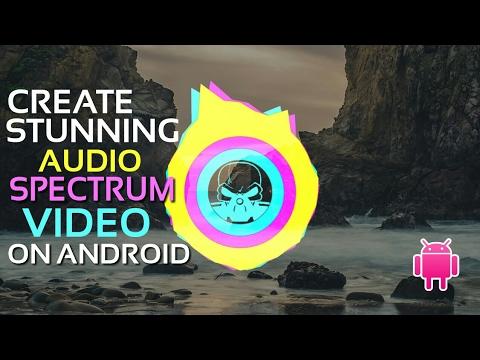 How to create Audio spectrum video in Android | Audio vision app tutorial