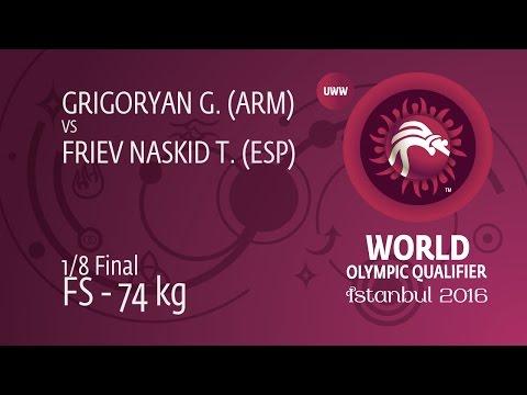 1/8 FS - 74 kg: T. FRIEV NASKID (ESP) df. G....