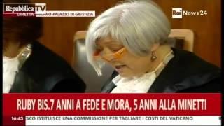 PROCESSO RUBY CONDANNATI Emilio Fede Lele Mora e Nicole Minetti  (19 Luglio 2013)