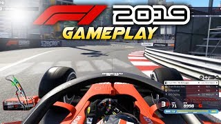 F1 2019 Exclusive Gameplay! Race at MONACO with Charles Leclerc! (F1 2019 Game Ferrari)