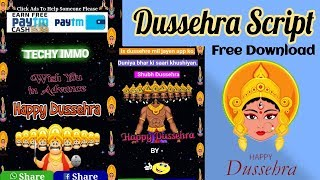 Happy Dussehra Whatsapp Viral Wishing Script | Download | Techy Immo