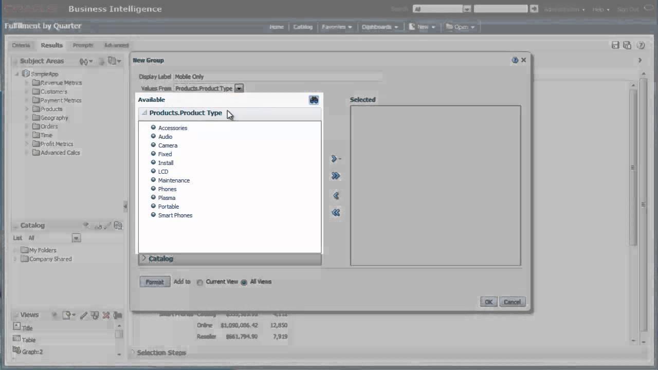 Creating Groups Using Oracle BI EE