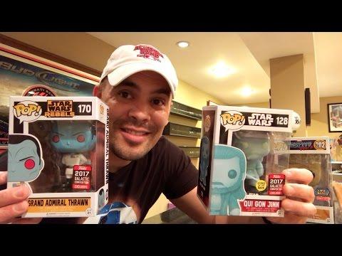 Episode 129 - HUNTING Star Wars Celebration EXCLUSIVE FUNKO POPS! 40th Black Series R5 D4!