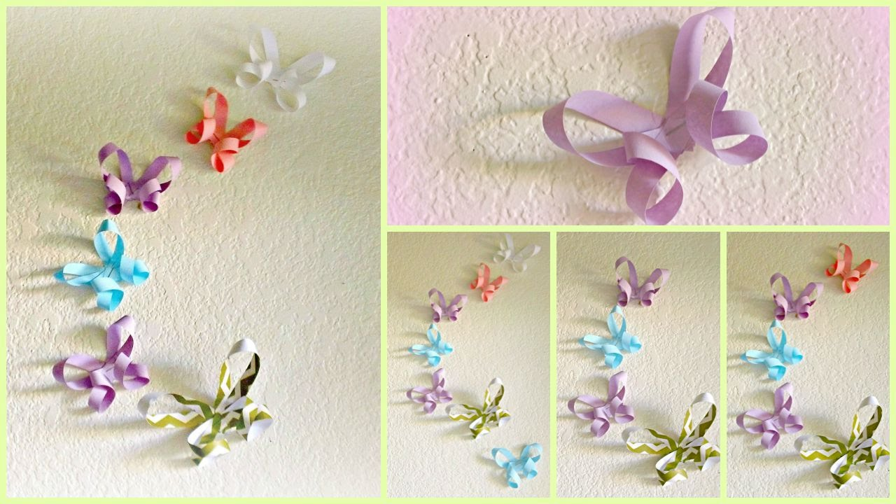 diy room decor 3d paper butterflies youtube - Room Decor 3d