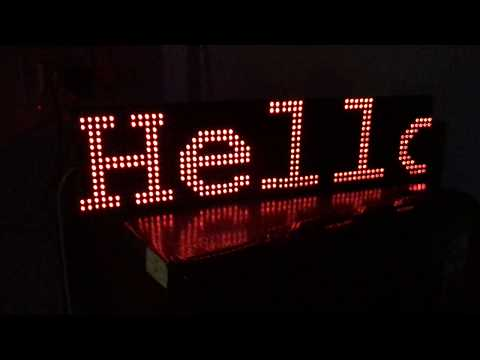 Scrolling Message P10 Led Display with Marathi and English fonts - Internet  of Things