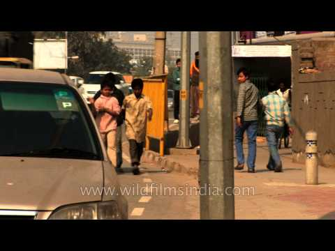 Life of the Delhi rag pickers in the streets