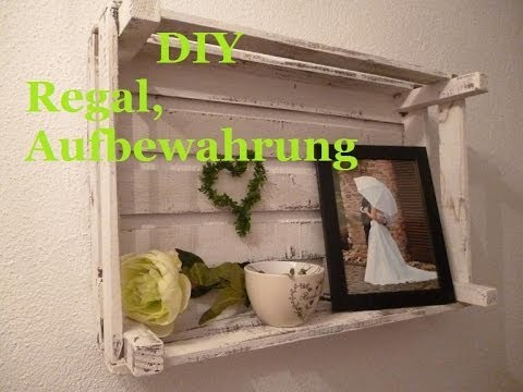 diy regal aus alt mach neu deko idee aufbewahrung youtube. Black Bedroom Furniture Sets. Home Design Ideas