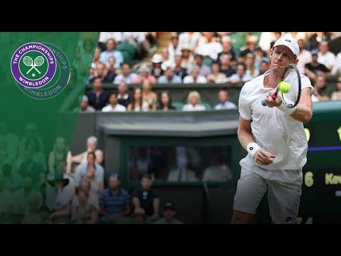 Kevin Anderson turns lefthanded in astonishing point  Wimbledon 2018
