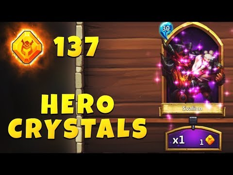 Rolling 137 HERO CRYSTALS | Instant Legendary Heroes & Soul Stones | Lavanica | CASTLE CLASH
