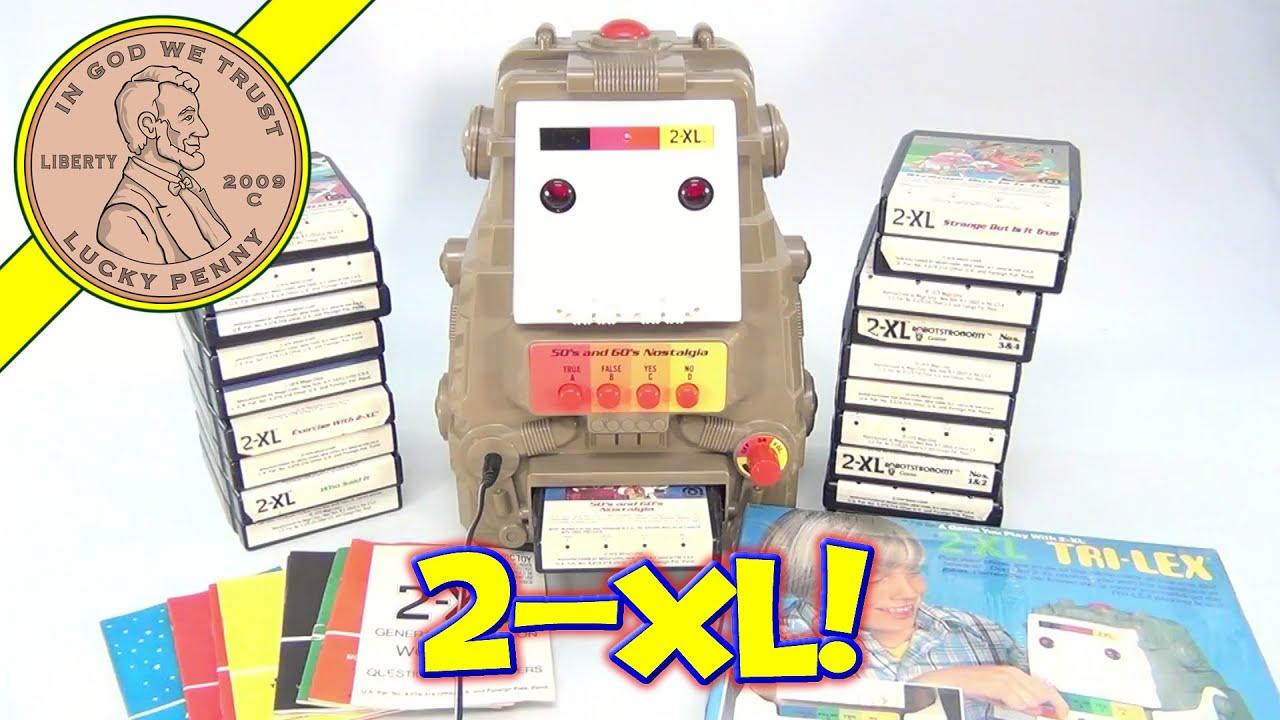 Vintage Mego 2 XL Talking Learning Robot 20 8 Track Tapes Booklets