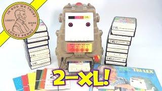 Vintage Mego 2-XL Talking Learning Robot - 20 8-Track Tapes Booklets & Overlays - Learning 2XL Robot