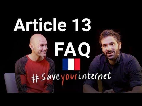Article 13 - On répond à vos questions #SaveYourInternet