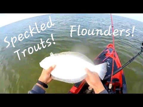 Specks & Flounder Action At Galveston West Bay (Galveston Texas Kayak Fishing) 12.8.19