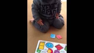 1歳3ヶ月から、ポロポロ言っていた図形。認識できる図形は、この頃には...