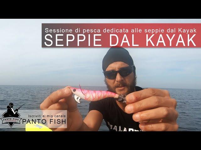 Sessione di pesca a Seppie dal Kayak Tonale Fishing BigMama