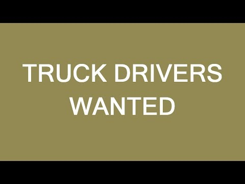 Truck driver positions are available! Send your resumes.