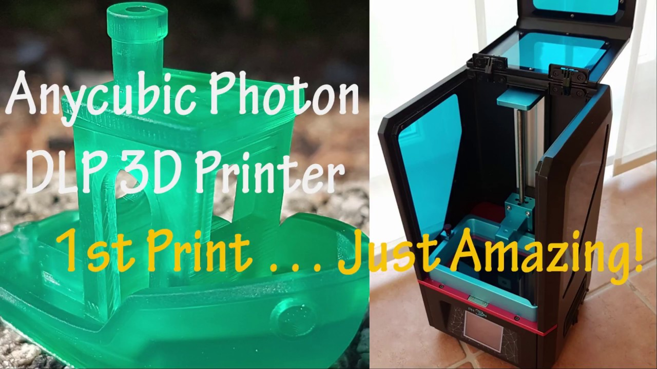 #01 Anycubic Photon 3D Printer - Amazing 1st print of 3DBenchy!